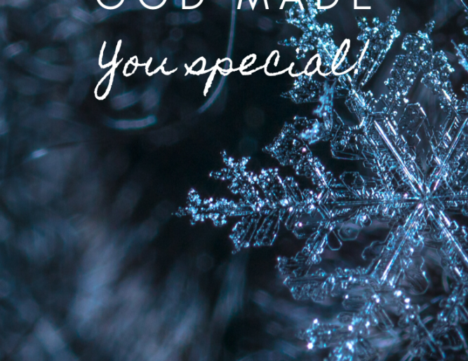 Snowflakes, Sparkles & What Makes YOU special!